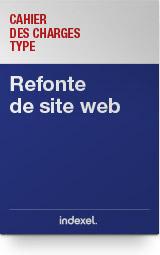 Cahier des charges type : <br>la refonte d'un site web