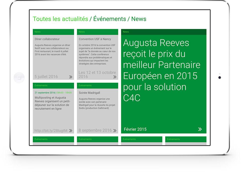 Augusta Reeves iPad