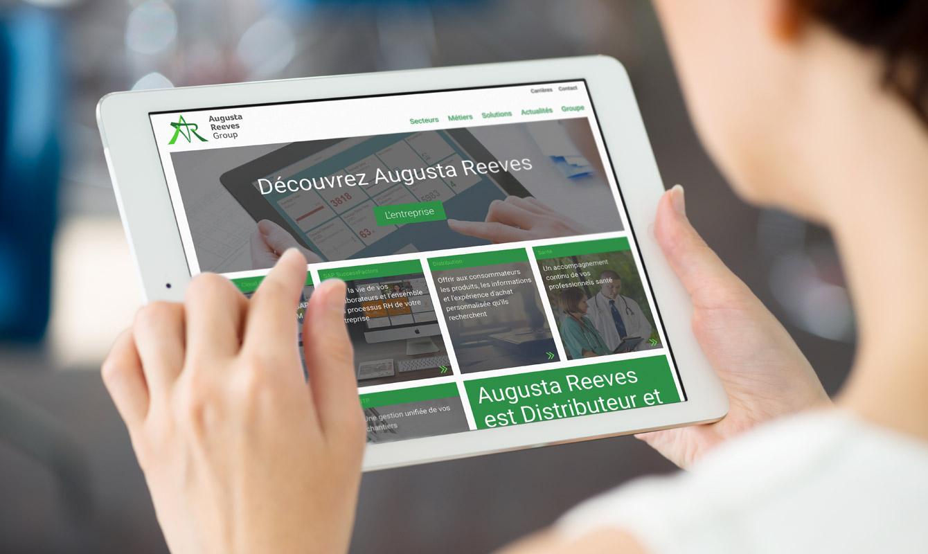 Augusta Reeves refonte de site web