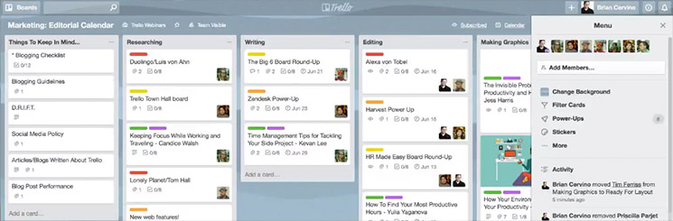Même le content marketing se vit en mode agile ! - Capture Trello
