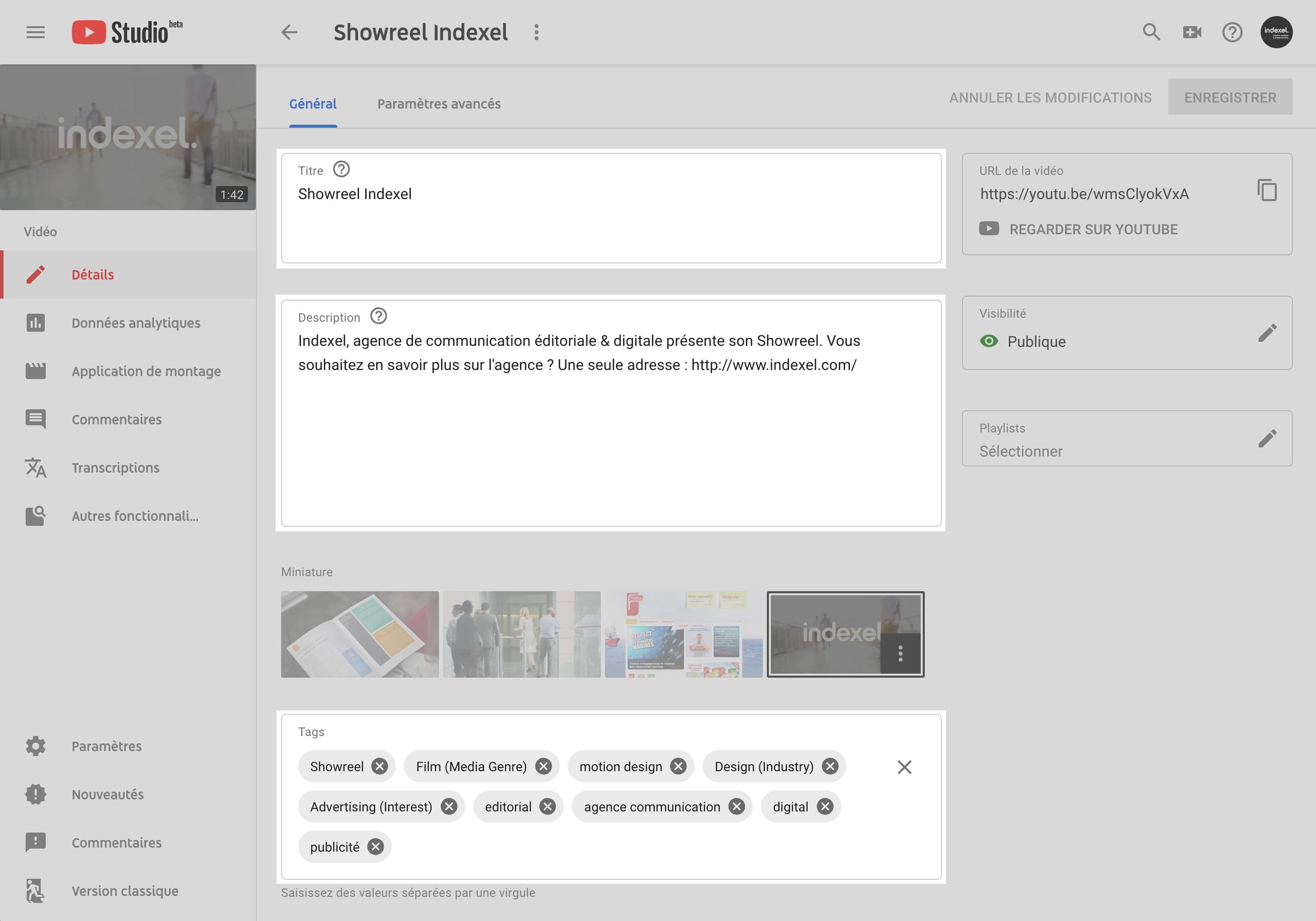 Les champs à optimiser pour favoriser le référencement naturel des vidéos