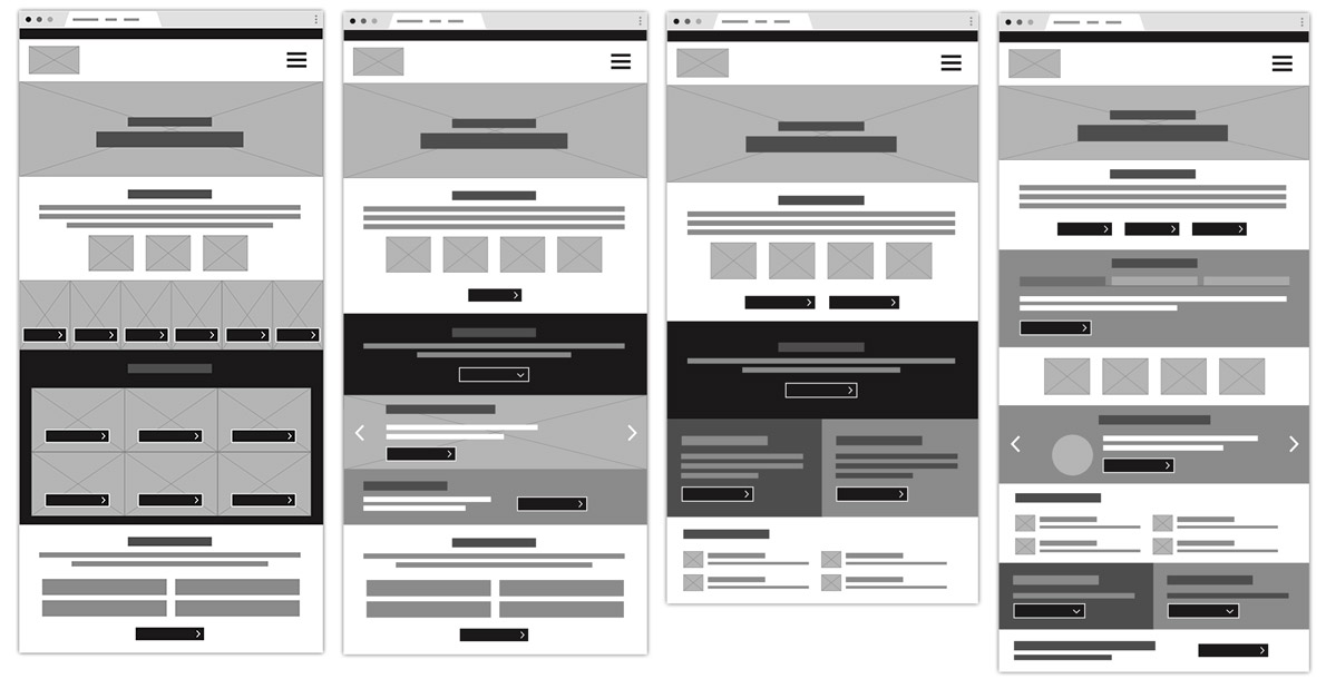 INA wireframes