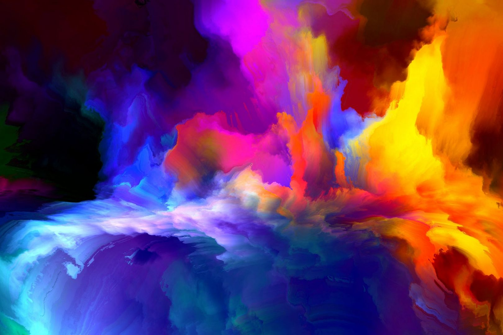 Color in motion, metaphor on the subject of design, creativity and imagination